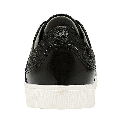 Jamron Cuir De Noir Brogue Lacer Élégant Style Sport Chaussures Décontractée Faux Hommes Baskets rqxO0r