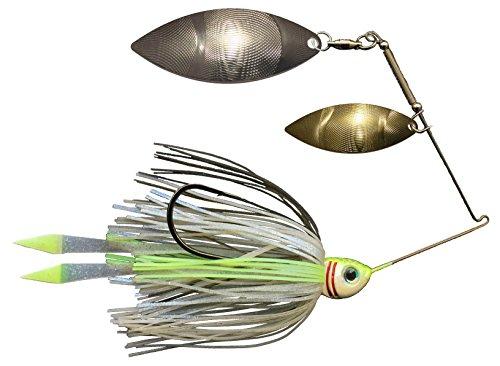 Advantage Bait Company Threadfin Shad Double Willow Spinnerbait, Gold/Silver, 1/2 oz ()