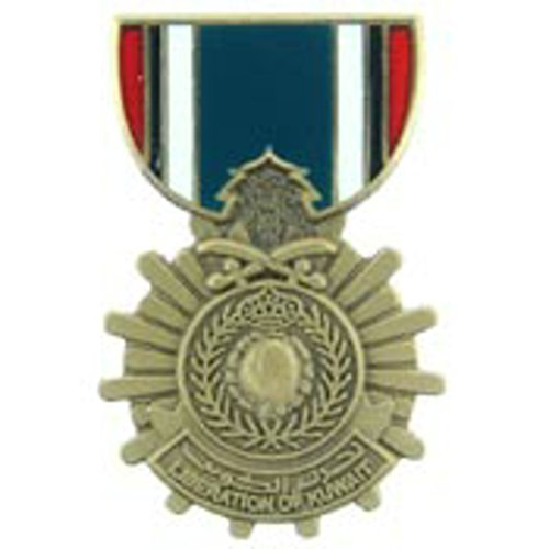 EagleEmblems P15770 Pin-Medal,Lib.of Kuwait (Saudi Arabia) (1-3/16'')