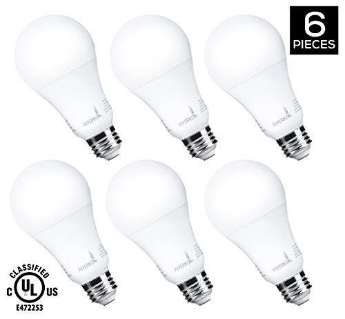 HyperSelect 14W LED Light Bulb A21 - E26 Non-Dimmable LED Bulb [75W to 100W Equivalent], 4000K (Daylight White Glow), 1200 Lumen, Medium Screw Base, 340° Omnidirectional - Pack of 6