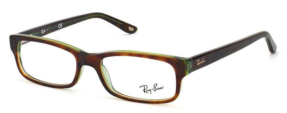 Ray Ban Optical Occhiali da sole RX5187 Da Uomo Nero lucido, 50mm Luxottica 805289343387