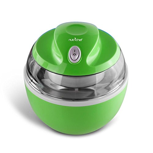 NutriChef Latest Electric Ice Cream Maker Machine - Heavy Duty Mixing Blade w/ Removable Freeze Safe Bowl for Automatic Healthy Homemade Gelato Frozen Yogurt Sorbet for All Ages PKICCM20 by NutriChef