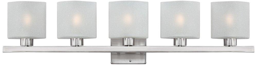 Possini Euro Linen Glass 40 1/2''W Brushed Steel Bath Light
