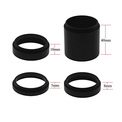 Astromania Astronomical T2-extension Tube Kit for cameras and eyepieces - Length 5mm 8mm 10mm 40mm - M42x0.75 on Both (Extension Tube Kit)
