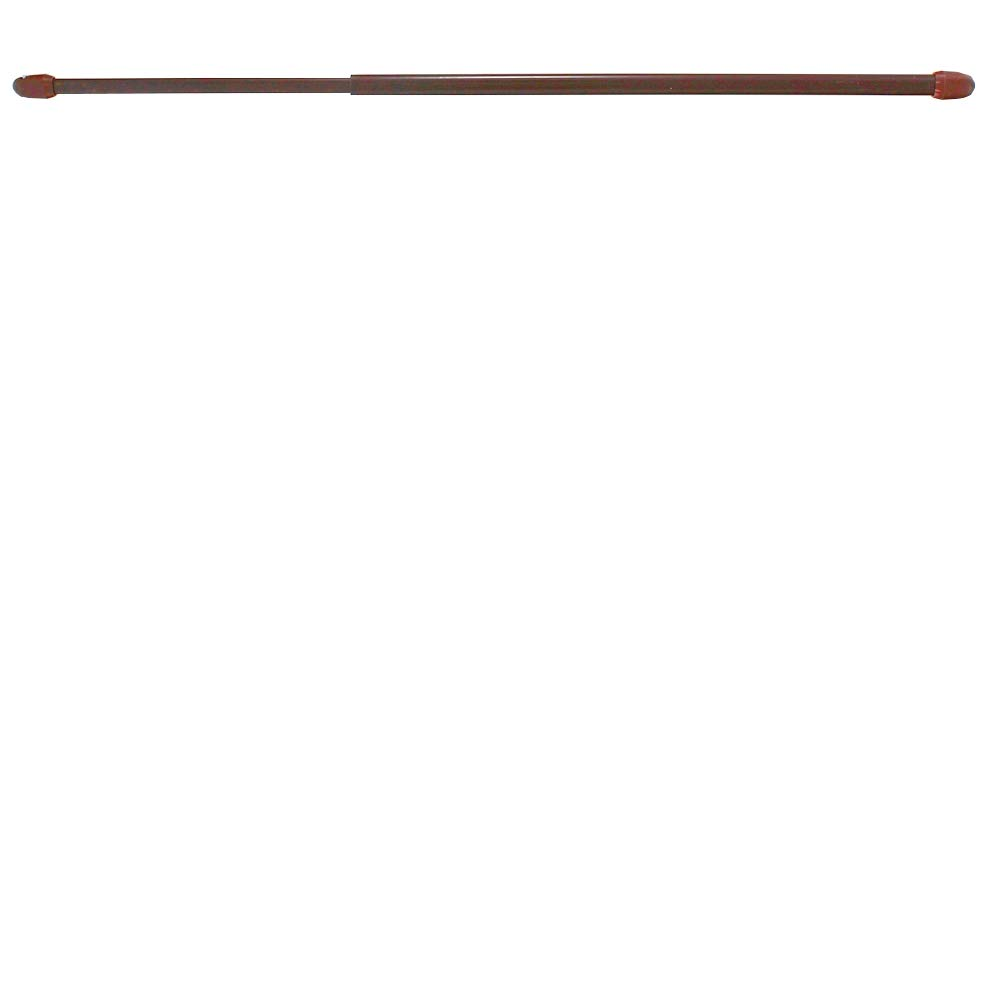 2 pi/èces crochets /à visser inclus de 40 /à 70 cm couleur MARRON Tringles /à rideaux extensibles pour vitrages