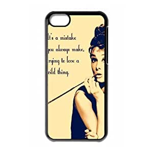LINMM58281Audrey Hepburn Quotes New Fashion DIY Phone Case for iphone 5/5s,customized cover case ygtg-782146MEIMEI