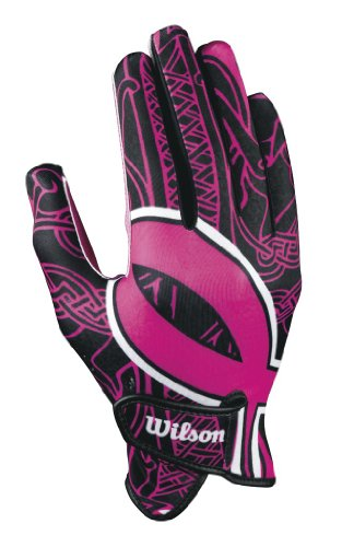 Wilson Adult Receivers Glove with Ribbon (Pink,