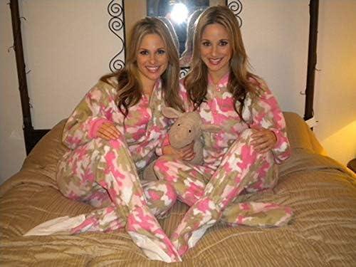 Big Feet Pjs Pink Camo Kids Footed Pajamas Youth Girls Onesie Sleeper
