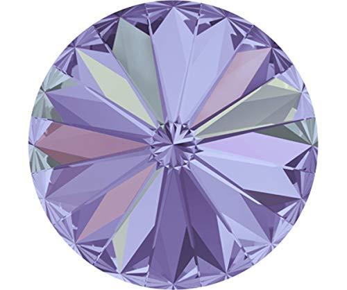 2pcs Crystal Vitrail Light 001VL Vl Round Rivoli Glass Crystals 1122 Swarovski Stone Chatons Faceted Rhinestones 14mm ()