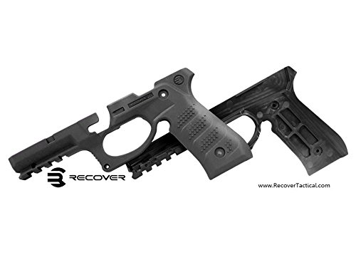 Recover Tactical BC2 Grip & Rail System for Beretta 92 M9 Series Pistol, Black