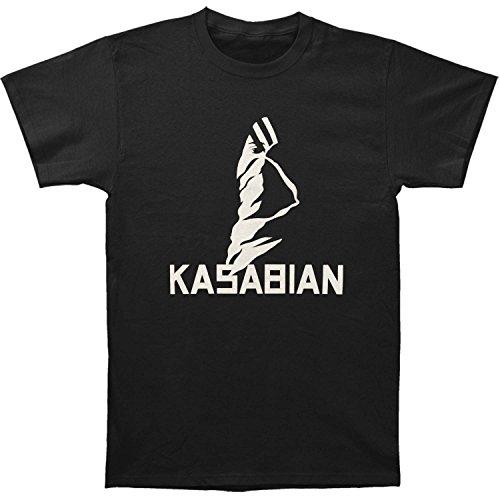 Official Unisex-adults Kasabian Ultra Face Tour T Shirt (black) - Large -