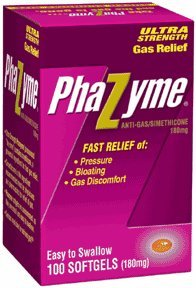 Phazyme Ultra Strength Gas Relief, 180 mg, Softgels, 100-Count Bottle