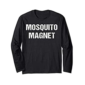 Funny Mosquito Shirt Mosquito Magnet Bugs RV Glamp Camping Long Sleeve T-Shirt