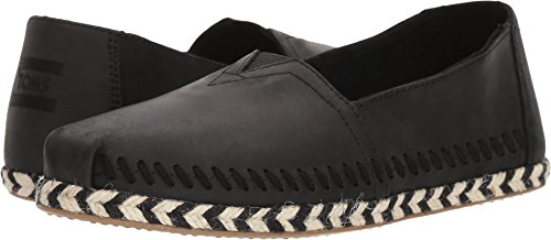 TOMS Women's Seasonal Classics Black Leather 5 B US