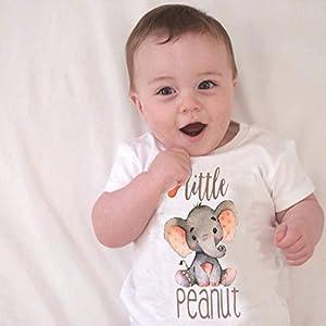Aiserkly Funny Toddler Kids Baby Girl Boy Romper Jumpsuit Letter Elephant Tops Unisex Bodysuit Comfortable Sunsuit…
