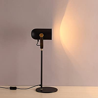 MASO HOME, Spot light of Flexible Adjustable head neck of A Simple Vintage Industrial Desk Lamps, Table Lamps with Antique Metal based material with 5W LED Bulb included