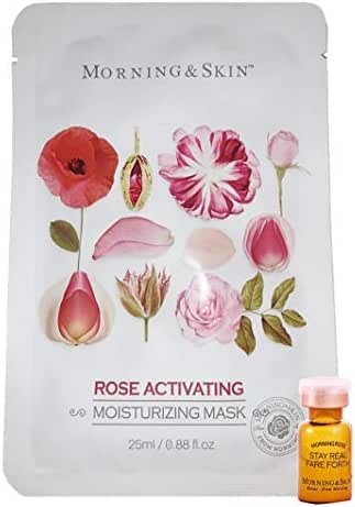 [Morning Skin] Rose Super Hydrating Activating Repairing Mask 1x25ml + Rose Super Moisturizing Activating Repairing Serum 1x1 ml - Rose Picked on Morning from Damascus Bulgarian (1-Set Trial Pack)