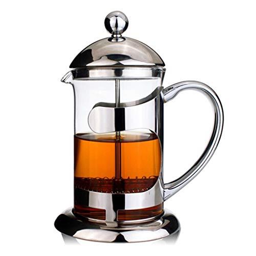 HYJBGGH Cafeteras de émbolo Cafetera Francesa,Cafetera De Prensa Francesa, Sistema De Filtración De 3 Niveles, con Base…