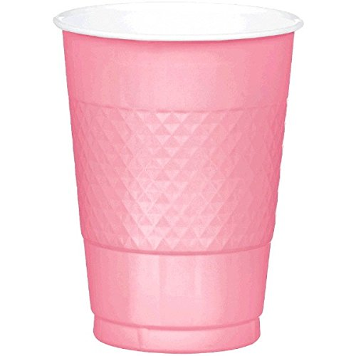 Reusable Party Cups Tableware, Pretty Pink, Plastic , 16 Ounces, Pack of 20