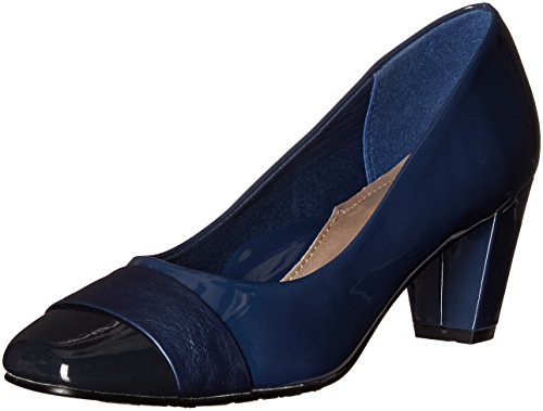 Soft Style Hush Puppies Women's Mabry Platform Pump True Navy Patent/True Navy Vitello shipping outlet store online store with big discount cheap Inexpensive euusr
