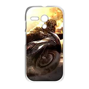 Motorola G Cell Phone Case White Fire Wheelman JNR2188690