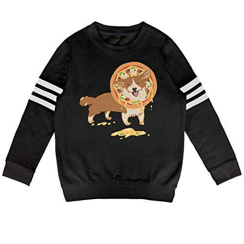 Children Pizza Corgi Puppies German Shepherd pet Sweatshirt Cotton Long Sleeve Costume for Boys Or Girls]()