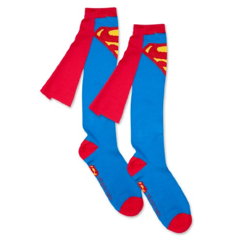 Superman Cape For Adults (Bioworld Superman Blue Adult Knee High Cape Sock, One)