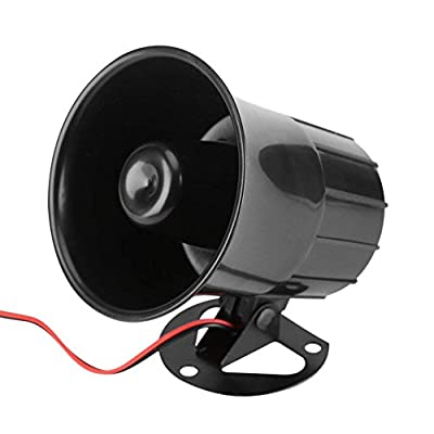 Yootop DC12V 15W High DB Car Security Alarm Replacement Siren Horn with Bracket