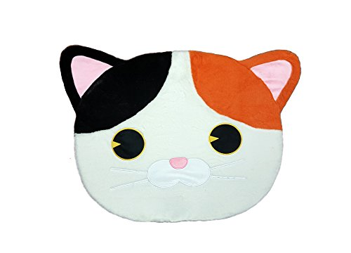 Cute Animal Tri-Color Cat Point Area Room Deco Fluffy Soft Non-Slip Kids Play Rug Mat / 28 x 43 inch - Tokyo Japanese Lifestyle Exclusive Gift (Limited Edition)