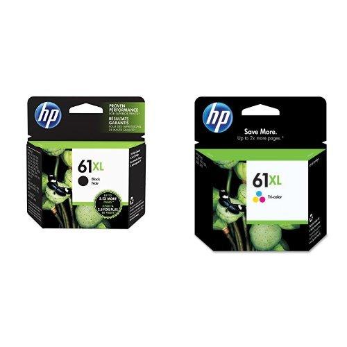 HP 61XL Black/Tri-Color High Yield Ink Cartridge Bundle
