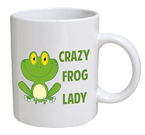 Best funny gift - 11OZ Coffee Mug - Crazy frog lady - Perfect for birthday, women, present for her, mom, daughter, sister, wife or friend.
