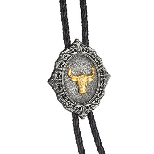 Head Native Ties Bolo Gift Gold Homyl Western Cowboy American Necktie Tie Wonderful Bootlace Cow 1YEwBEnqxf