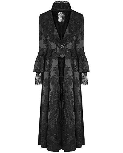 Rave Regency Gótico Vestido Largas Victoriano Para Negro Dama Punk Chaqueta Steampunker AR6dqAn