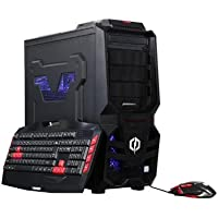 CyberpowerPC Desktop PC Gamer Ultra 2098 FX-4000 Series FX-4300 3.80 GHz 8 GB DDR3 500 GB HDD AMD Radeon R7 240 Windows 10 Home 64-Bit