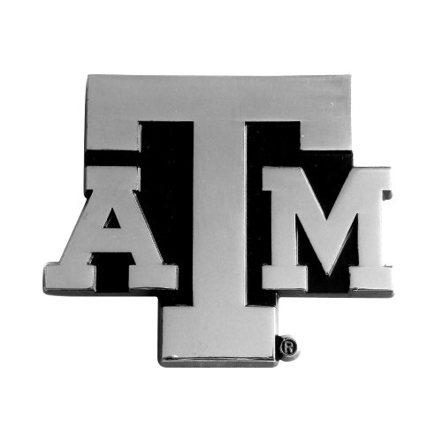 FANMATS  14896  NCAA Texas A&M University Aggies Chrome Team Emblem by Fanmats