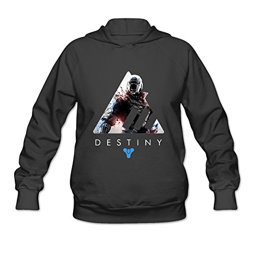 AOPO Destiny Women's Long Sleeve Hooded Sweatshirt / Hoodie Large Black - Costume Quest Xbox 360
