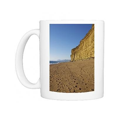 Photo Mug of Beach and cliffs, Burton Bradstock, Jurassic Coast, UNESCO World Heritage Site