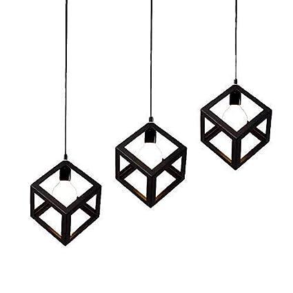Lámpara colgante Loft Diseño creativo de cubo Lámpara ...
