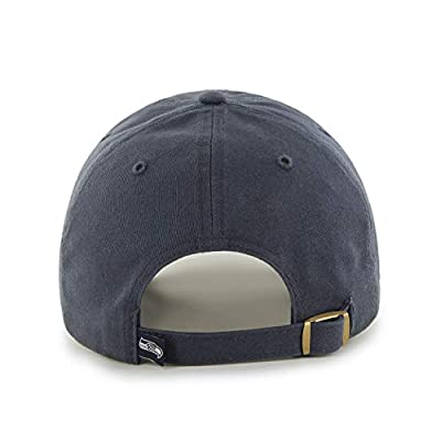 Grey NFL Seattle Seahawks Hat Sports Football Baseball Cap Embroidered Team Logo Athletic Games Clean Up Adjustable Cap/ Hat For Boys Kids Unisex Fan Gift Stylish Easy Strap Closure, Cotton Fabric
