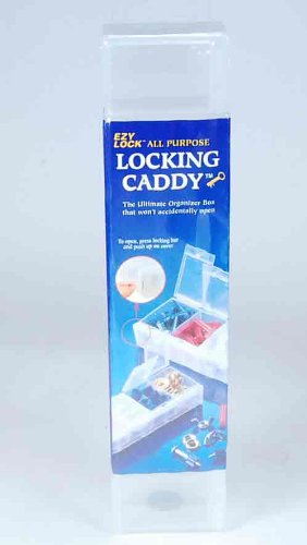Craft Mates EZY Lock ALL Purpose Locking Caddy 2xl - Size: 9 1/8 Inches L X 1 5/16 Inches W X 1 1/8 Inches H - Color Clear