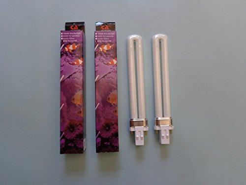 Two 13 Watt 50/50 Actinic/10k Aquarium Light Bulbs