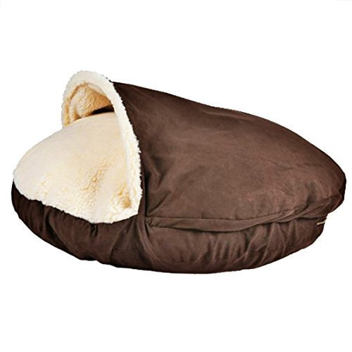 Sofantex Plush Pet Bed Cave for Cats and Small to Medium Size Dogs and Cats, Red, 25