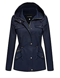 ACEVOG Womens Winter Military Anorak Hoodie Coat Jacket Outerwear Overcoat