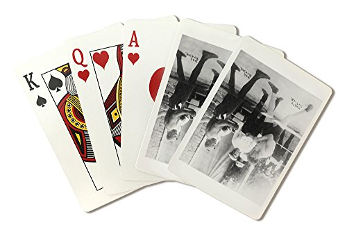 Boxers Marty Cutler and Jack Johnson - Vintage Photograph (Playing Card Deck - 52 Card Poker Size with Jokers)