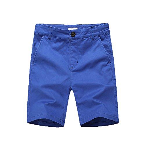 (BASADINA Boys Shorts School Uniforms - Casual Cargo Shorts for Boys 6 Color 5-14 Years)