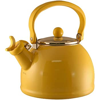 Red stainless steel whistling tea kettle 2 5 l for Alpine cuisine tea kettle