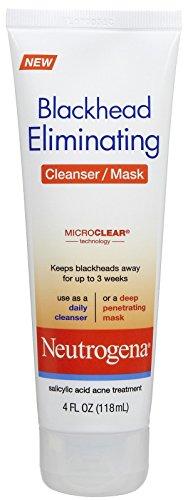 Neutrogena Blackhead Eliminating 2-1 Cleanser/Mask, 4  FL (0.25 Lb Head)