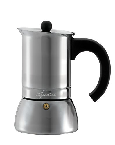 Lagostina T9910464 Stainless Steel Espresso Coffee Maker, 6-Cup, Silve