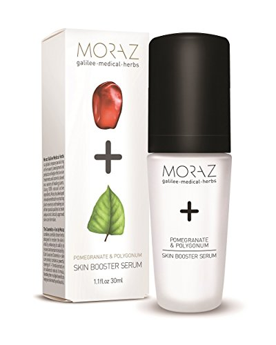 Antioxidant Rich Pomegranate Extract - Herbal Skin Serum by Moraz | 1 oz. | Natural Pomegranate & Polygonum Extracts | Rich in Minerals and anti-oxidants