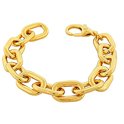 My Daily Styles Stainless Steel Gold-Tone Large Chunky Links Chain Bracelet